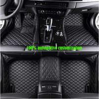Custom Car fußmatten für hyundai getz kia sportage 2018 mazda cx-5 toyota corolla für peugeot 307 sw ford fiesta mk7 auto matten