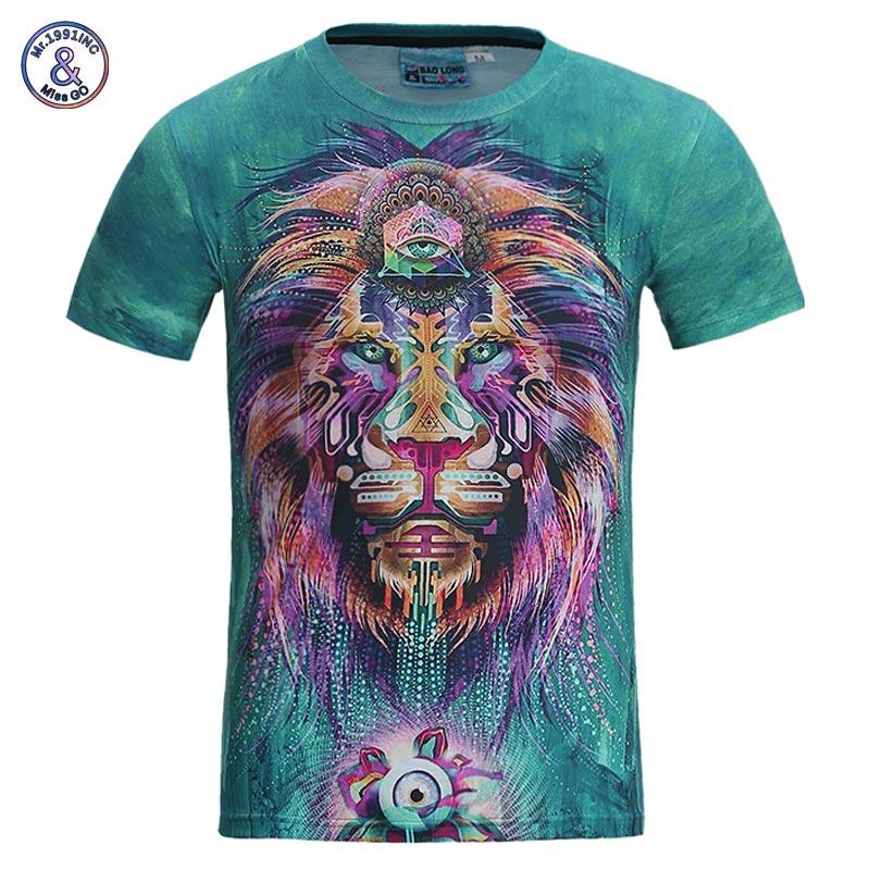 Mr.1991INC Neue Mode Männer/frauen 3d t-shirt lustige drucken bunte haar Lion King sommer kühl t shirt streetwear tops tees