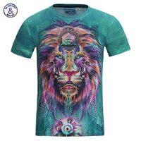 New Fashion Men Women 3d T Shirt Funny Print Colorful Hair Lion King Summer Cool T