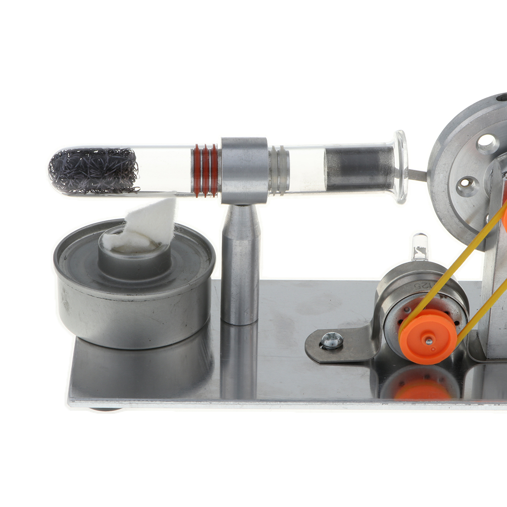 Hot Air Flywheel Stirling Engine WIth Colorful LED Electricity Generator Educational Toy in Model Building Kits from Toys Hobbies
