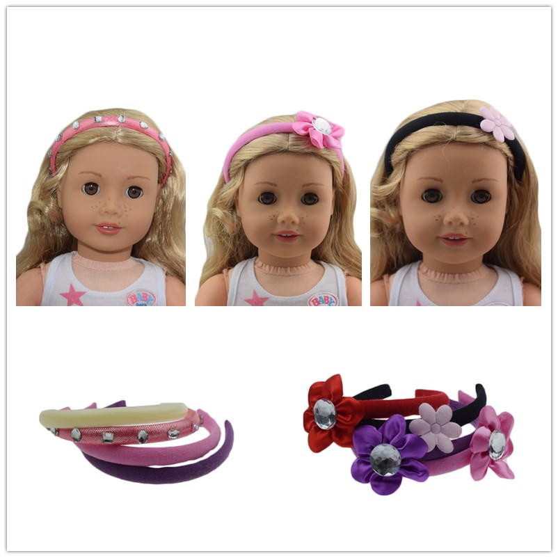Doll accessories, Hair hoop Wear fit 18 inch American Girl Doll, Children best Birthday Gift 9 colors american girl doll dress 18 inch doll clothes and accessories dresses