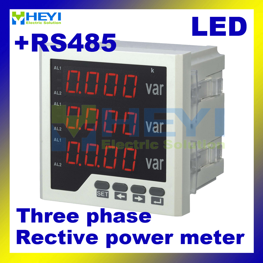 3 phase digital reactive power meter 120*120/96*96/72*72/80*80 mm Class 0.5 LED panel meter with RS485 communication цены