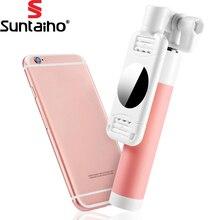 Suntaiho Выдвижная Самостоятельная Selfie мини монопод selfie stick с зеркалом штатив монопод для iPhone 6 для Samsung Android Selfie Pod