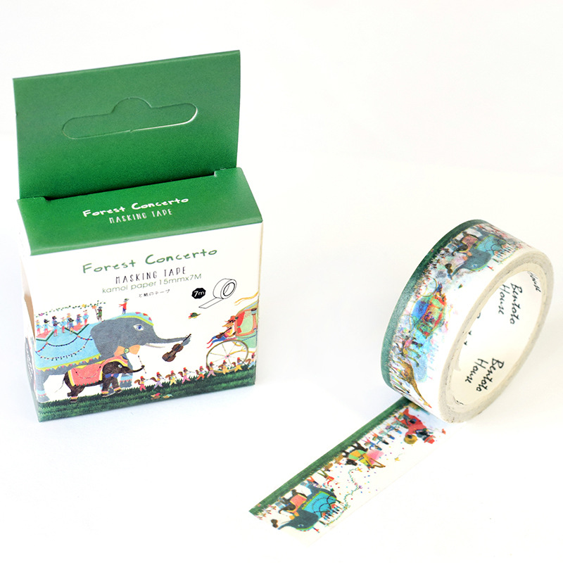 15mm X 7m Cute Kawaii Forest Concerto Decorative Washi Tape DIY Scrapbooking Masking Tape School Office Supply