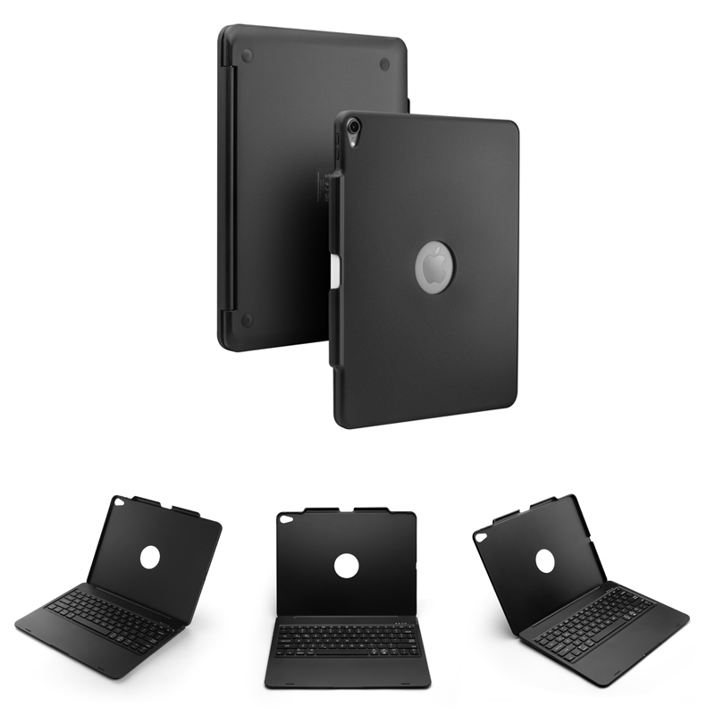 """טלויזיות פלזמה LCD [חדש] מקרה מקלדת Bluetooth אלחוטית עבור iPad אפל 12.9"""" פרו 2018, תחשוב מקלדת עם 7-צבע תאורה אחורית ו Smart Sleep / Wake-up (2)"""