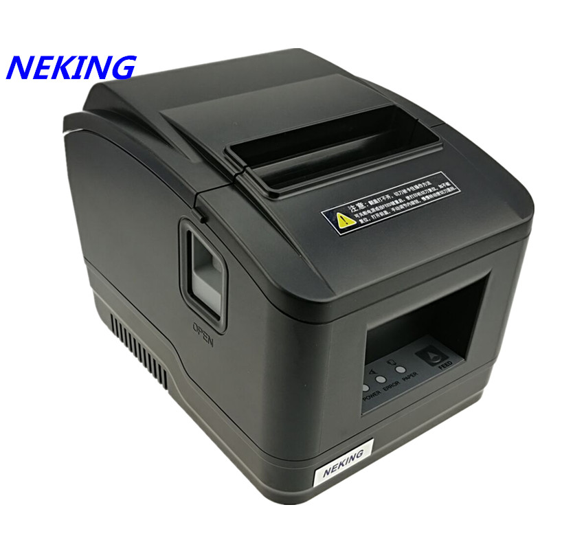wholesale brand new High quality pos printer 80mm thermal bill receipt Small ticket barcode printer automatic cutting printer image