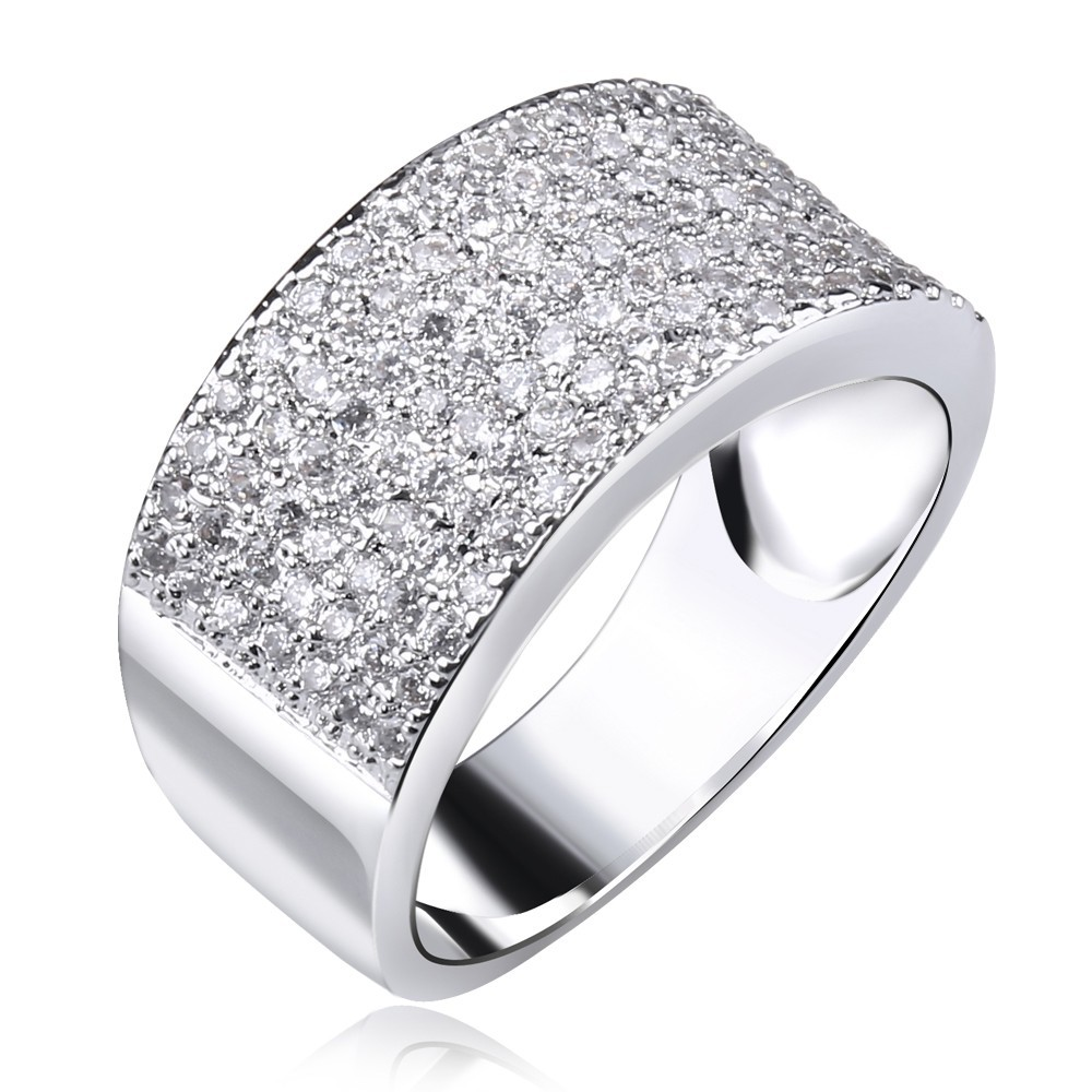 Women Rings Secret Wedding Cubic Zirconia Micro Pave Setting Cocktails Copper Ring Platinum Plated Lead Free New Arrival In From Jewelry