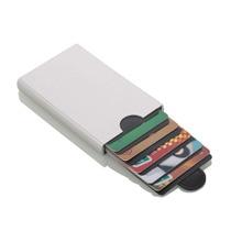New Aluminium Alloy card case Anti Rfid Blocking Bank Card Holder ID Case Protection Metal Credit