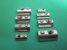 Half round nut M4 M5 M6 M8 nut shrapnel steel ball nut block for EU standard 40 aluminum profile elastic nut 1pcs(China)