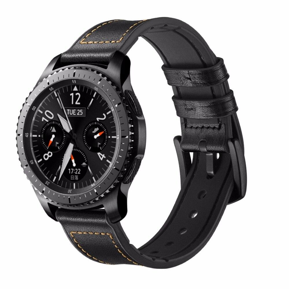 22mm Leathe strap Pour Samsung Vitesse S3 Frontière/Classique montre bande Sport silicone bracelet poignet bandes pour Xiaomi huami Amazfit