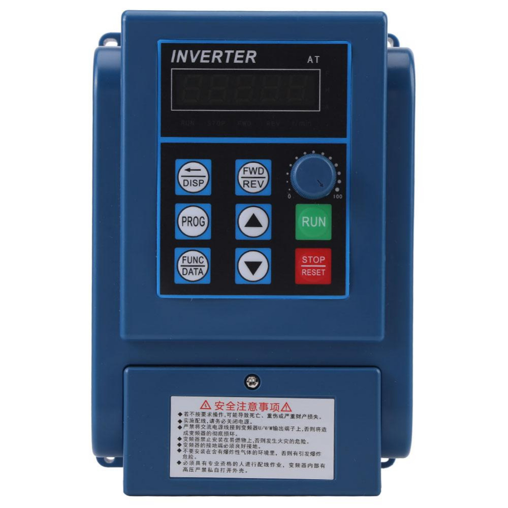 цена на AC 380V 3A Inverter Converters Variable Frequency Drive VFD Speed Controller for 3-phase 0.75kW AC Motor