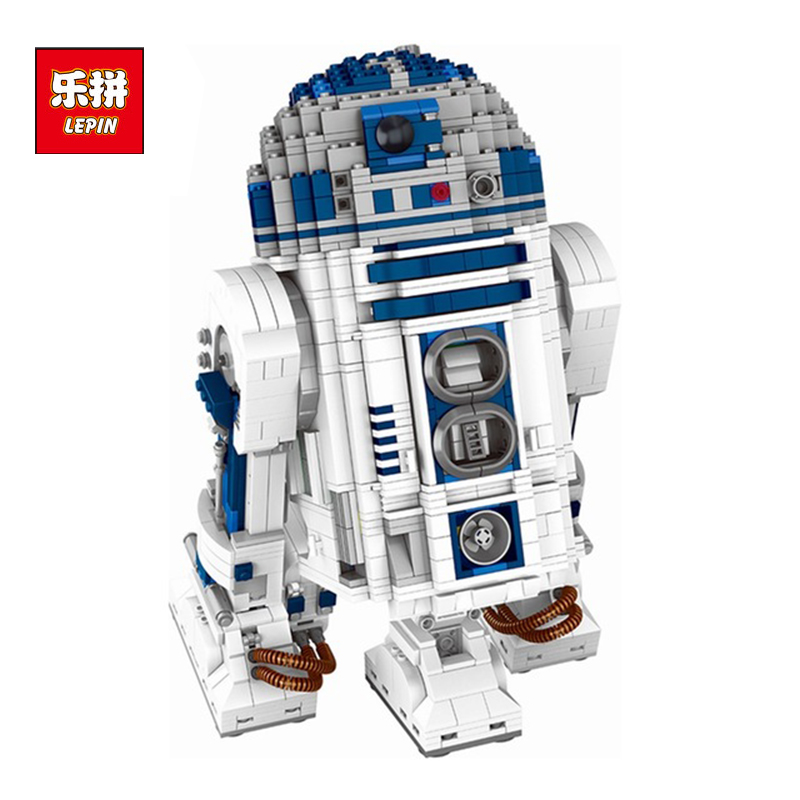 Lepin Genuine 05043 Star Series The R2 Robot Set D2 Out of print Building Blocks Bricks Toys 10225 wars birthday christmas gifts lepin 05043 2127pcs genuine the r2 model d2 robot set out of print building blocks bricks legoinglys 10225 birthday gifts
