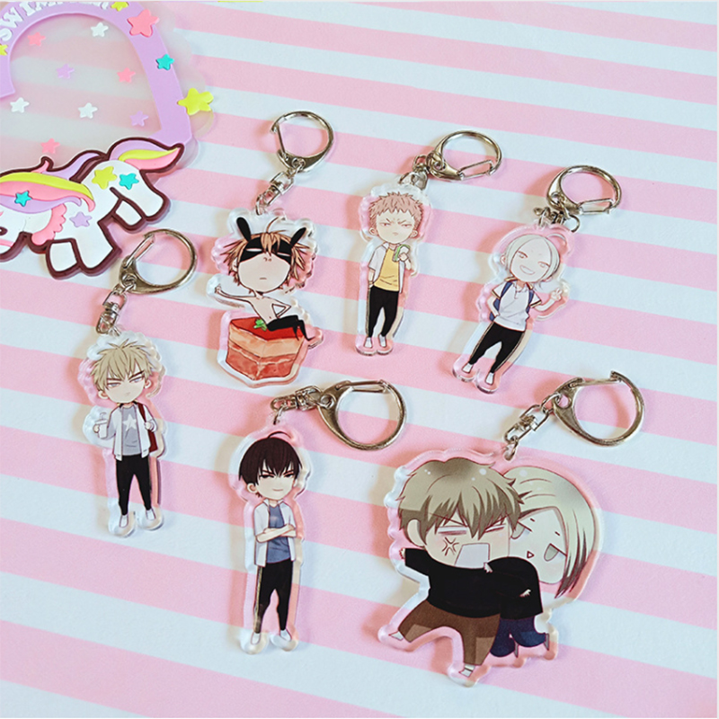 Anime 19 Days Keychain Cartoon Figure Old Xian Hetian Jian Yi Pendent Key Ring