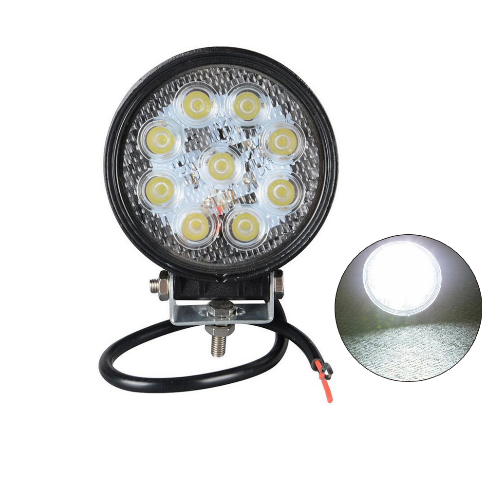 Driving Light led 12v 24v 27w led working light Offroad  led light bar  12v flood beam car work light  2PCS 4 inch