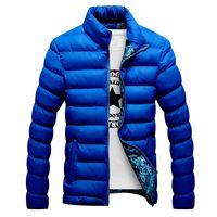2019 Novos Jaquetas de Inverno Parka Homens Outono Inverno Quente Outwear Marca Slim Mens Casacos Casacos Corta-vento Casacos Acolchoados Homens M-6XL 2
