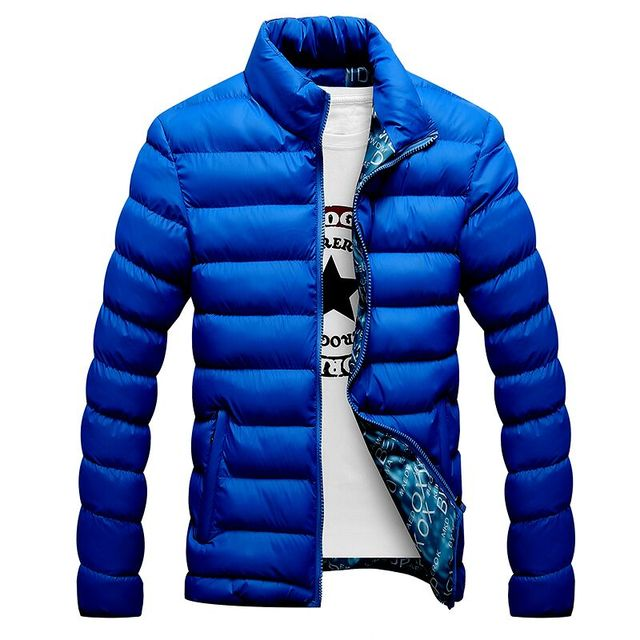 Casual Mens Quilted Parka Windbreaker 2