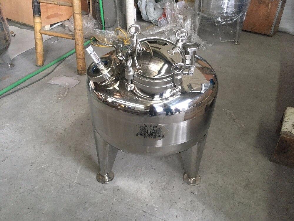 Novo tipo personalizado 150L camada única Caldeira, tanque de Destilador em aço inoxidável 304.