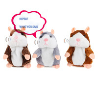 2017 15CM Talking Hamster Mouse Pet Plush Toy Learn To Speak Electric Record Hamster Educational Children