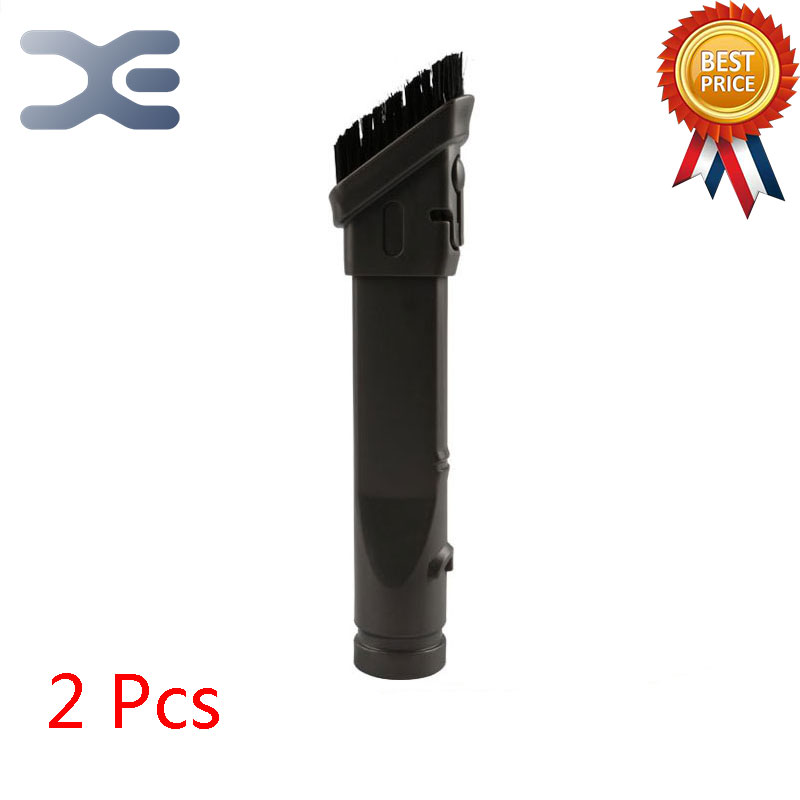 2Pcs Adapter For Dyson Vacuum Cleaner Accessory Two-in-one Head Brush DC35 DC45 DC58 DC59 DC62 V6 Vacuum Cleaner Parts flexible vacuum cleaner brush for hoover crevice tool for dyson v6 dc62 dc52 dc59