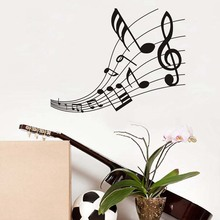 Euphonious Musical Note Score Wall Stickers For Kids Room Decoration Diy Pvc Music Removable Vinyl Home Decals Mural Art Posters