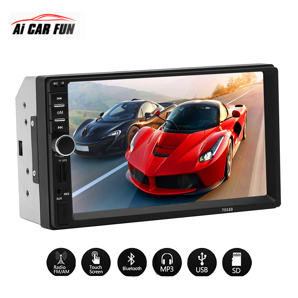 7 inch Double 2 DIN Car MP5 MP3 Multimedia player Bluetooth HD Touch Screen Stereo Radio Camera 12V Auto Universal player hot sale 7 inch double din multimedia hd bluetooth car radio mp5 player for bmw e46 opel astra h vw passat