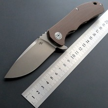 Eafengrow CH3504 Folding Knife D2 Steel Blade G10 Handle Outdoor Camping Knives Portable Tactical Tool