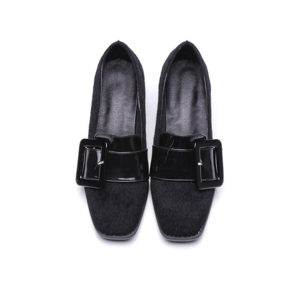 Simple Memunia Daim 2017 Talon gris rouge Boucle Nouveau Bout Mode Simples Arrivent À Carré En Noir Femmes Chaussures Faible D29HIYEW