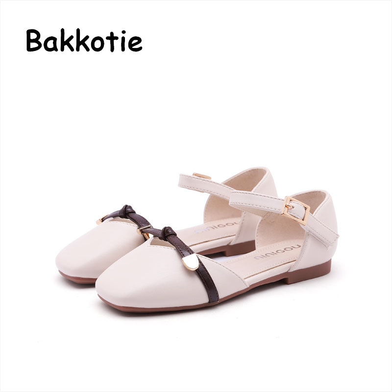 Bakkotie 2018 Spring New Baby Girl Fashion Princess Party Bow Shoe Toddler Pu Leather Children Brand Pink Cute Flat Mary Jane