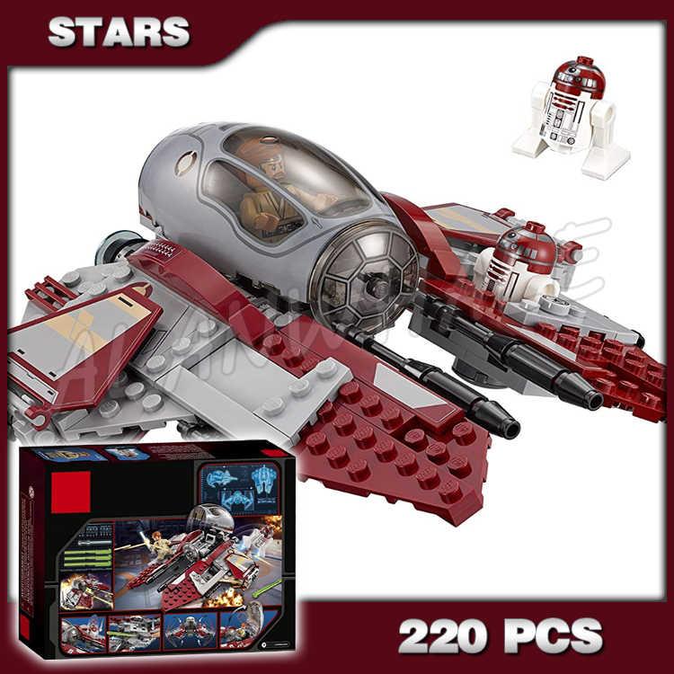 220pcs חלל מלחמת אובי ואן של Jedi Interceptor 10575 דגם להרכיב בניין בלוקים קרב לוחם צעצועי לבנים תואם עם Lago