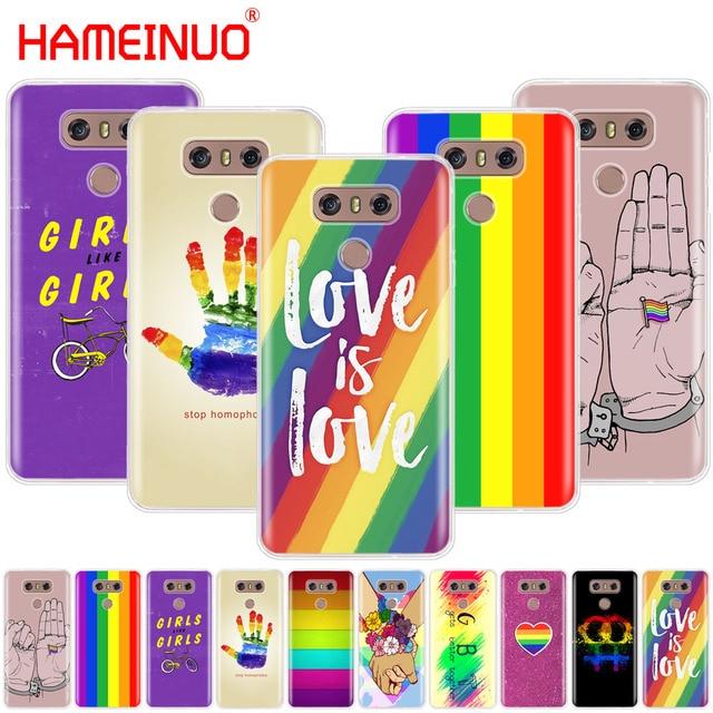 on sale de1bb d1c05 US $1.64 34% OFF Gay Lesbian LGBT Rainbow Flag Pride ART Colorful phone  cover for LG G7 Q6 G6 MINI G5 K10 K4 K8 2017 2016 X POWER 2 V20 V30 2018-in  ...