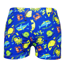 2019 new cartoon printed swimming trunks for children aged 3-12