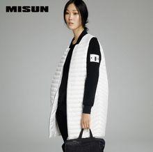 MISUN 2016 зимнее пальто в стиле бейсбол с широкой талией на молнии 90% утиного пуха