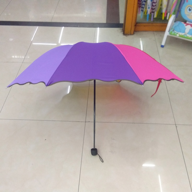 Rain Gear Pongee Windproof Long Handle Umbrella Rainbow Rain Umbrella Parasol Paraguas Rain Women Men Parapluie Rain Gear Convenience Goods Household Merchandises