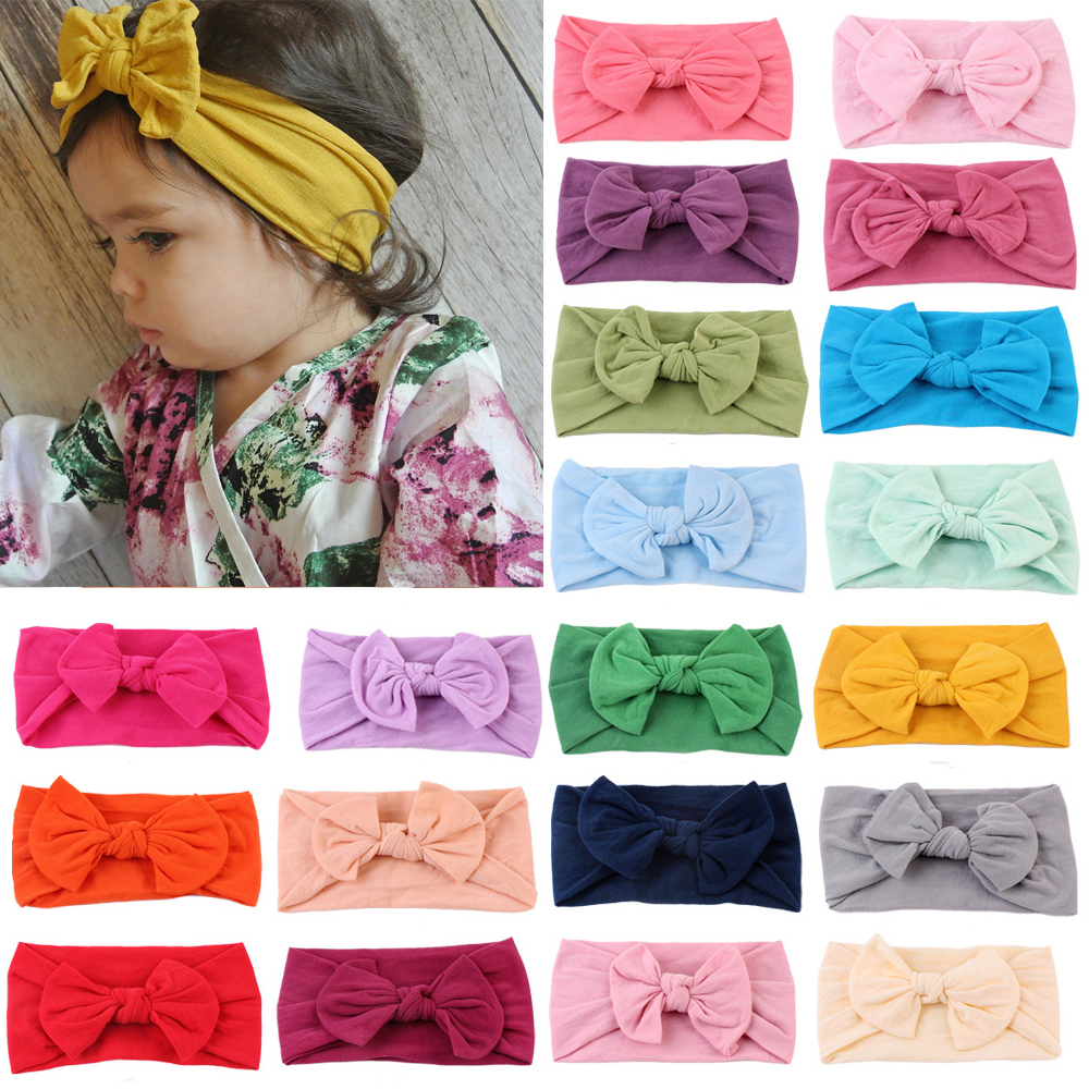 Cute Baby Girls Headbands Bowknot Hair Accessories for Girls Infant Hair Band for Girls title=