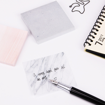 1PC(75 sheets)The Color of Marble Notepad Self Adhesive Memo Pad Sticky Notes Bookmark School Office Supply 1