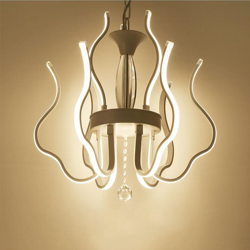 New restaurant lights creative chandelier modern simple shaped led lights office chandeliers led lighting fixture white lamps led lamp creative lights fabric lampshade painting chandelier iron vintage chandeliers american style indoor lighting fixture
