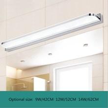 LED Mirror Light 42/52/62cm/72cm 9/12/14W/16WAC110 240V Waterproof Modern Cosmetic Acrylic Wall Lamp For Bathroom Light