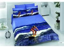 Комплект постельного белья двуспальный-евро VIRGINIA SECRET, Bamboo, море, 3D