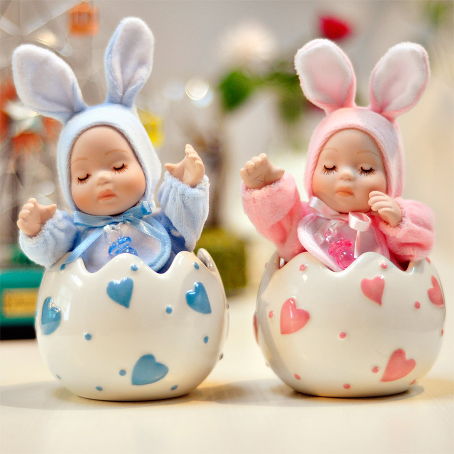 Creative Gifts Lovely rabbit baby Mini Music Box with Musical Boxes for Princess Love Girl Valentines Day Christmas gift