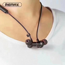 Remax RB S7 Magnetic Sport Bluetooth Earphone in ear Headset for Apple Samsung HUAWEI black