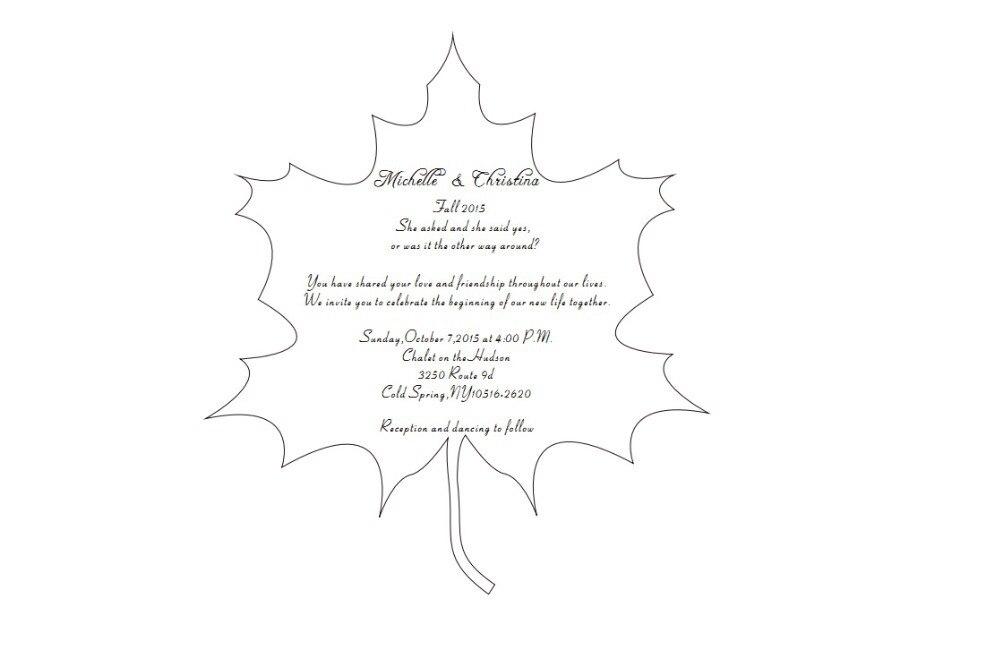 15*17cm maple leaf shape acrylic wedding invitation card-in Cards ...