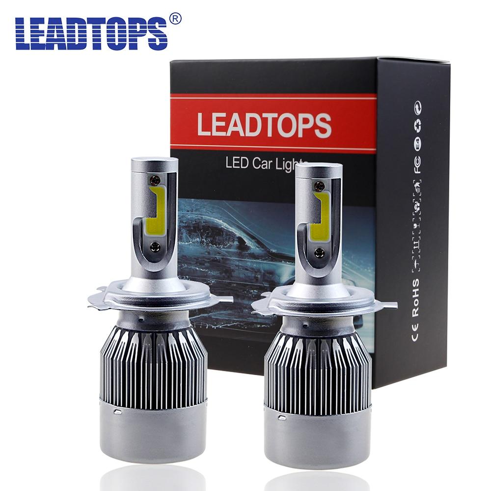 2 Pcs Super Bright H7 H4 Led H11 H1 H8 H11 Ampoule 72 W Phares Auto Led Lampe Avec Ventilateur Voiture Led Lumière 6000 K Blanc 12 V Automobile AJ