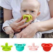 Best Selling Baby Silicone Pacifier Retractable Comfort Toddler Funny Nipple Dummy Soothers New