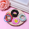 50 Pcs Cute Colorful Baby Girls  For Children Elastic Baby Rope Ponytail Elastic Hair Ring Kids Accessories