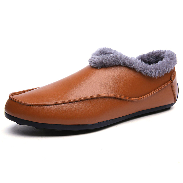 2017 Clássico quente de inverno homens flats shoes deslizamento em loafers sapatas dos homens vestido de negócios sapatos de couro formais dos homens de vendas de alta qualidade