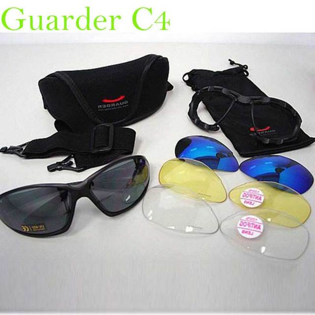 834844271c4 Camping Hiking Glasses G-C4 Polycarbonate Eye Protection Glasses C4  Tactical Shooting Glasses w 4 Set Lens  Belt