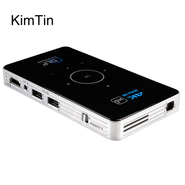 Special Price C6 Video Mini Projector OS 5.1 Amlogic S905 Quad Core 5G Wifi Smart DLP Proyector ROM 16G 4k HD BT4.0 Portable TV BOX W/ Battery