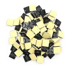 100 шт. самоклеющиеся приклеивающиеся крепления для кабельных стяжек/прокладки проводов и кабельный зажим основания зажим Горячая Распродажа