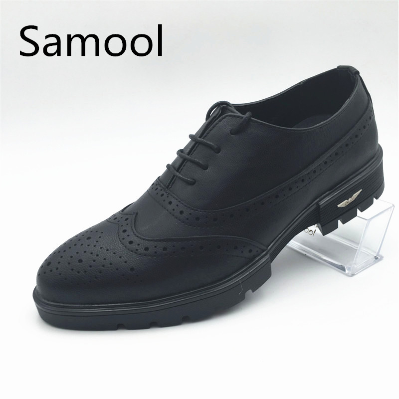 Hot Sell British Style Mens Casual Genuine Leather Shoes High Quality Thick Base Increase Pointed Toe Sapato Masculino QX5 цена 2017