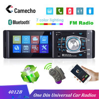 Camecho 1 Din Car Radio Auto Audio Stereo FM Bluetooth 2.0 Support Rear View Camera USB Steering Wheel Remote Control